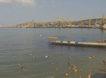 Вид на порт и маяк